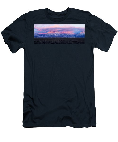 Sunset Over Mountain Range, Sangre De Men's T-Shirt (Athletic Fit)
