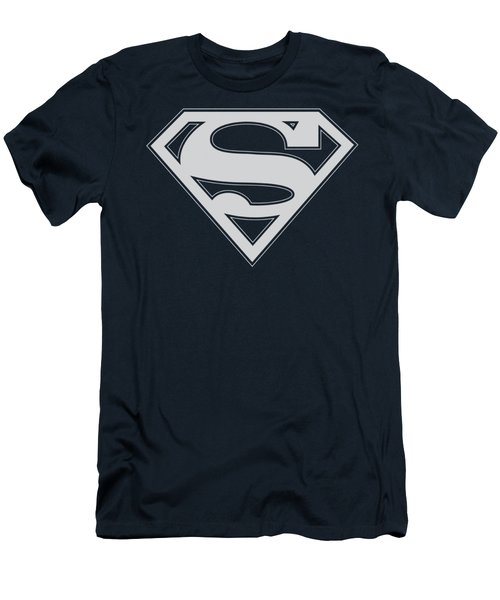 Superman - Navy And White Shield Men's T-Shirt (Slim Fit) by Brand A
