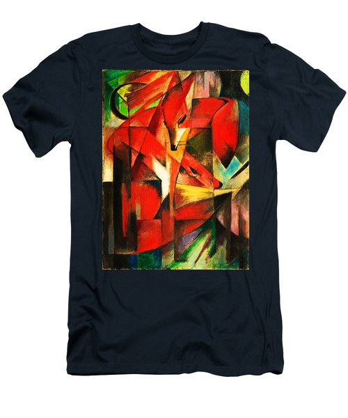 Men's T-Shirt (Athletic Fit) featuring the painting The Foxes by Franz Marc