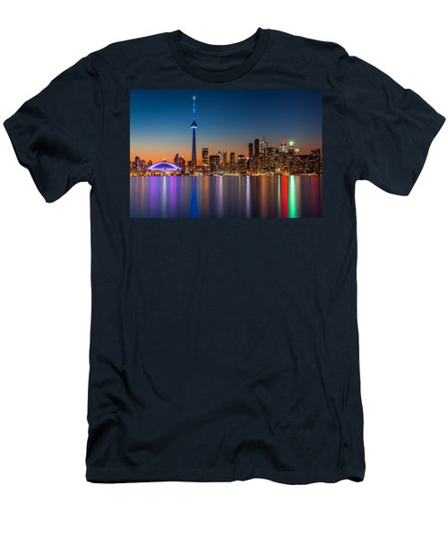 Toronto Skyline At Dusk Men's T-Shirt (Athletic Fit)