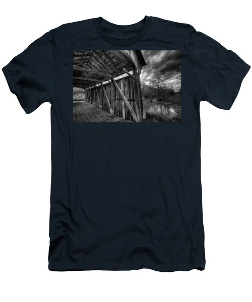 Trinity Road Covered Bridge Men's T-Shirt (Athletic Fit)