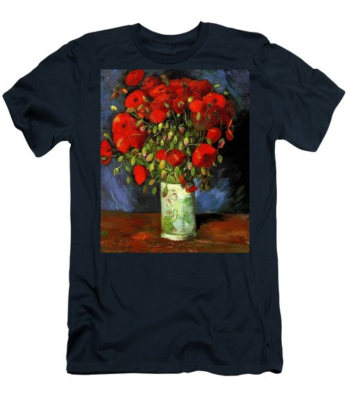 Vase With Red Poppies Men's T-Shirt (Athletic Fit)