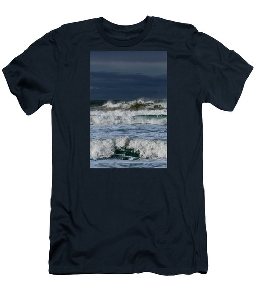Men's T-Shirt (Slim Fit) featuring the photograph Wave After Wave by Edgar Laureano