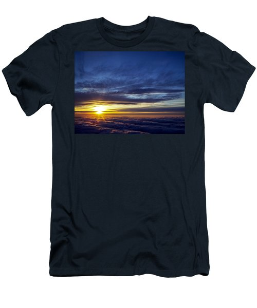 Men's T-Shirt (Slim Fit) featuring the photograph Winter Dawn Over New England by Greg Reed