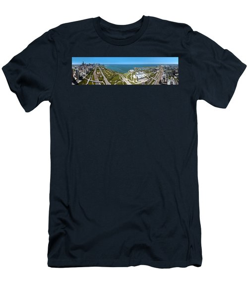 180 Degree View Of A City, Lake Men's T-Shirt (Athletic Fit)