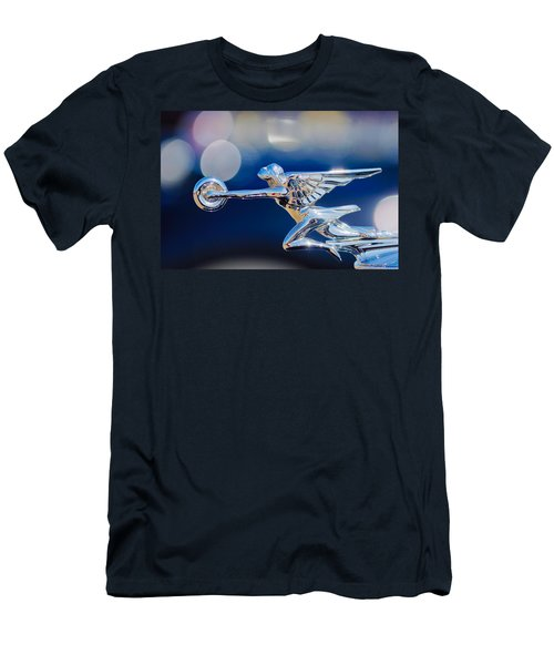 Men's T-Shirt (Athletic Fit) featuring the photograph 1932 Packard 12 Convertible Victoria Hood Ornament -0251c by Jill Reger