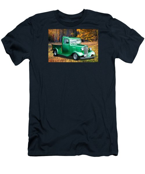 Men's T-Shirt (Slim Fit) featuring the digital art 1934 Chev Pickup by Richard Farrington