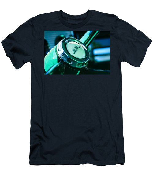 Men's T-Shirt (Athletic Fit) featuring the photograph 1958 Gmc Suburban Steering Wheel Emblem by Jill Reger