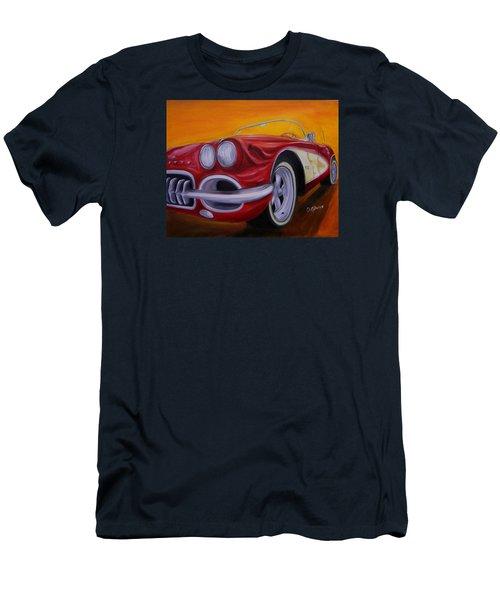 1960 Corvette - Red Men's T-Shirt (Athletic Fit)