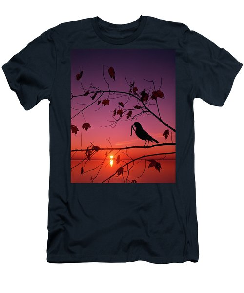 1980s Robin Turdus Migratorius Men's T-Shirt (Athletic Fit)
