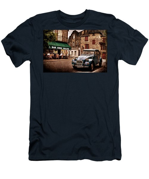 Citroen 2cv In French Village / Meyssac Men's T-Shirt (Athletic Fit)