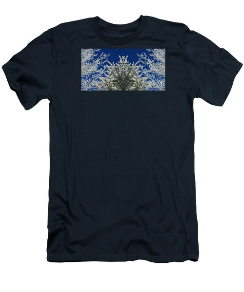 Men's T-Shirt (Slim Fit) featuring the photograph Frosty by Janice Westerberg