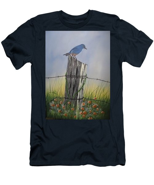 Mountain Bluebird Men's T-Shirt (Athletic Fit)