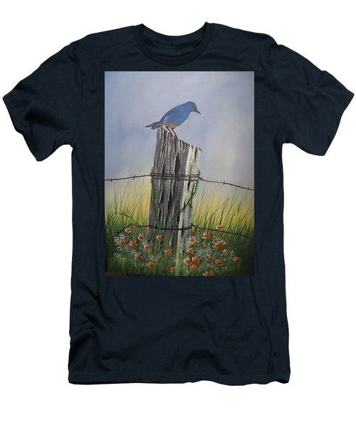 Mountain Bluebird Men's T-Shirt (Athletic Fit)
