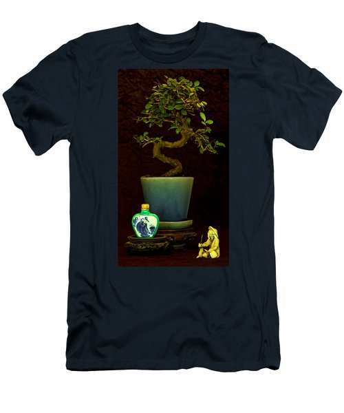 Men's T-Shirt (Slim Fit) featuring the photograph Old Man And The Tree by Elf Evans