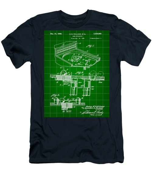 Pinball Machine Patent 1939 - Green Men's T-Shirt (Athletic Fit)
