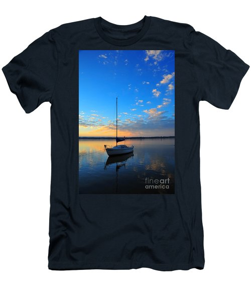 Men's T-Shirt (Slim Fit) featuring the photograph Sailing 2 by Terri Gostola