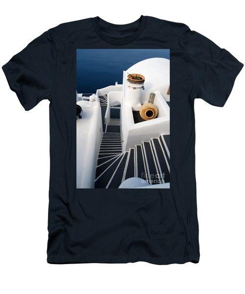Santorini Steps Men's T-Shirt (Athletic Fit)