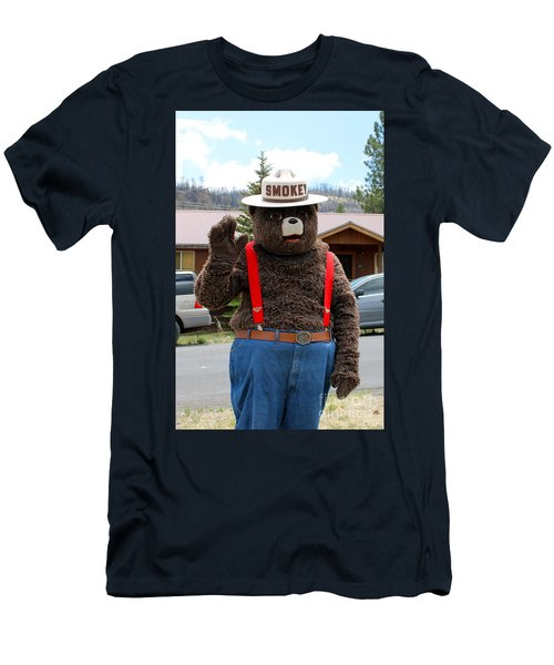 Smokey The Bear Men's T-Shirt (Slim Fit) by Pamela Walrath