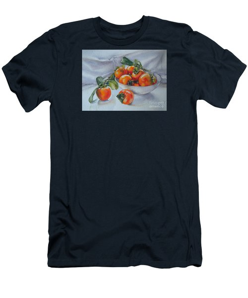 Summer Harvest  1 Persimmon Diospyros Men's T-Shirt (Slim Fit) by Sandra Phryce-Jones