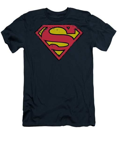Superman - Distressed Shield Men's T-Shirt (Athletic Fit)