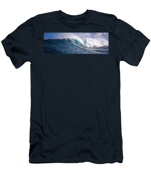 Surfer In The Sea, Maui, Hawaii, Usa Men's T-Shirt (Athletic Fit)