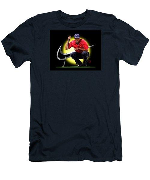 Men's T-Shirt (Slim Fit) featuring the digital art Tiger Eyes by Scott Ross