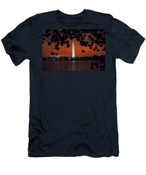Men's T-Shirt (Slim Fit) featuring the photograph Washington Monument by Suzanne Stout