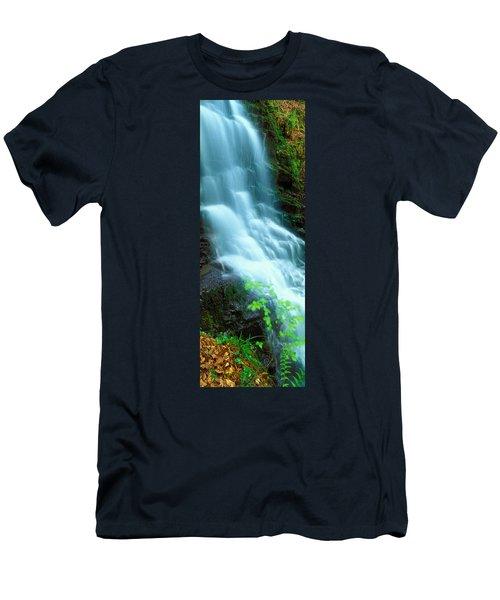 Water Falling From Rocks, Aberfeldy Men's T-Shirt (Athletic Fit)