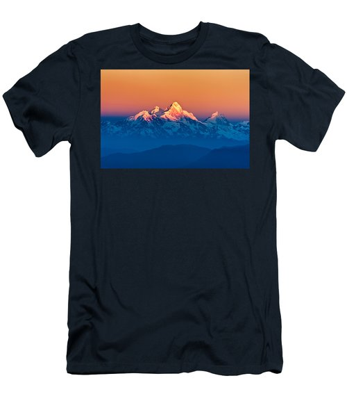 Himalayan Mountains View From Mt. Shivapuri Men's T-Shirt (Athletic Fit)