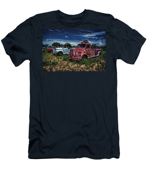 Men's T-Shirt (Slim Fit) featuring the photograph 3 In A Row by Ken Smith