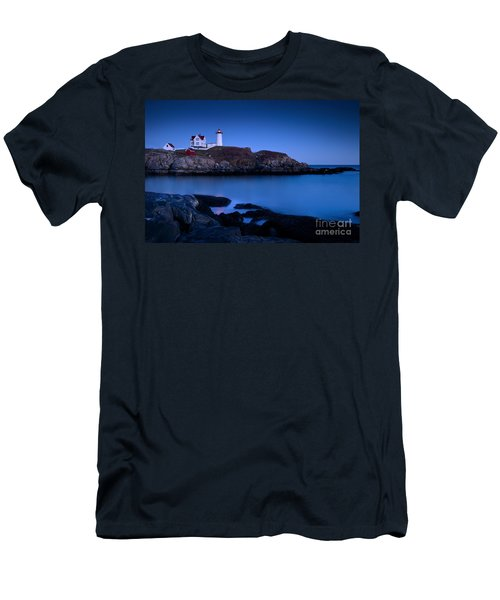 Men's T-Shirt (Athletic Fit) featuring the photograph Nubble Lighthouse by Brian Jannsen