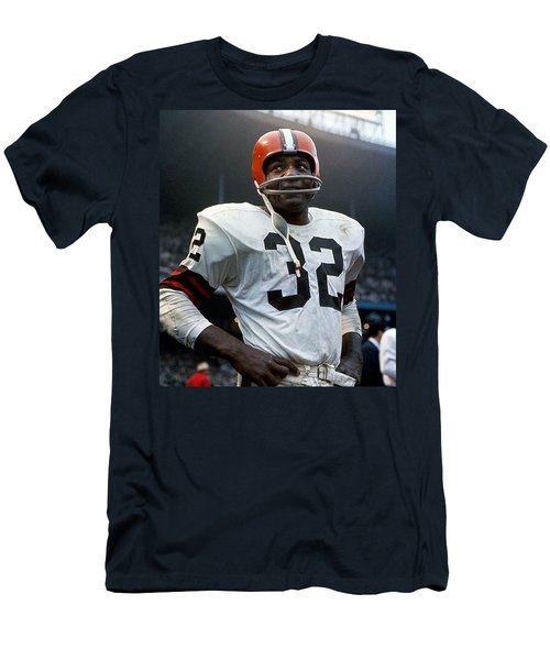 #32 Jim Brown Men's T-Shirt (Athletic Fit)