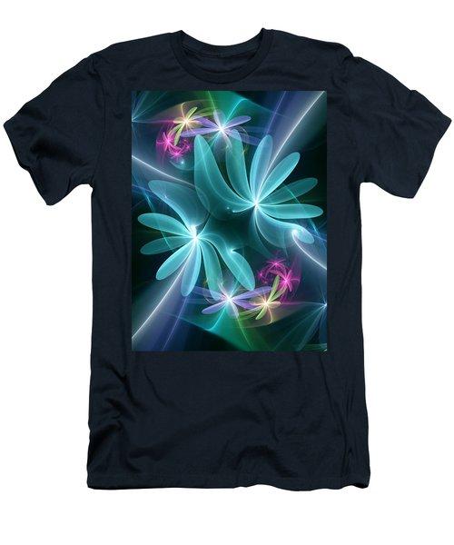 Men's T-Shirt (Slim Fit) featuring the digital art Ethereal Flowers by Svetlana Nikolova