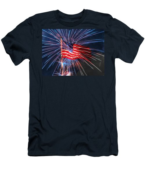 4th Of July Men's T-Shirt (Slim Fit) by Heidi Smith