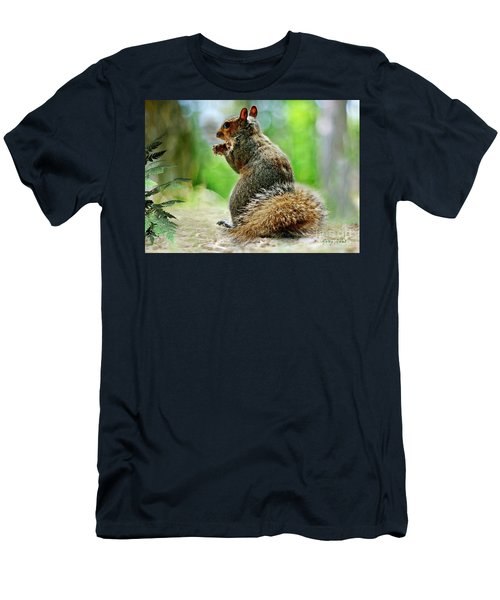 Harry The Squirrel Men's T-Shirt (Athletic Fit)