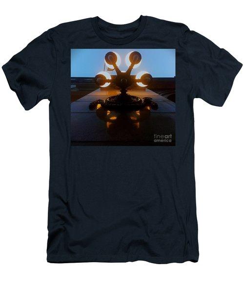 Men's T-Shirt (Slim Fit) featuring the photograph 5 Points Of Light by James Aiken