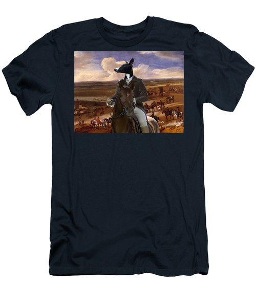 Whippet  Art Canvas Print Men's T-Shirt (Athletic Fit)