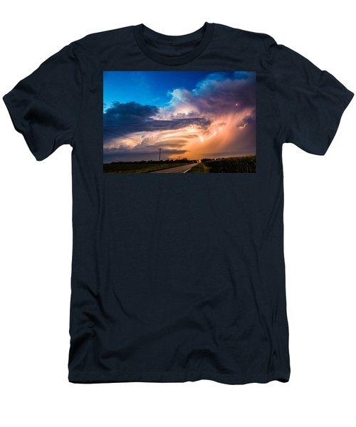 Wicked Good Nebraska Supercell Men's T-Shirt (Athletic Fit)