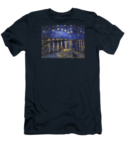 Starry Night Over The Rhone Men's T-Shirt (Athletic Fit)