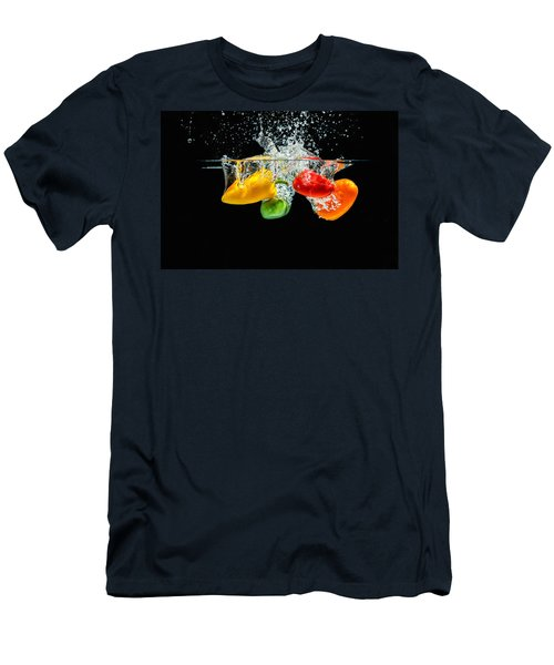 Splashing Paprika Men's T-Shirt (Athletic Fit)