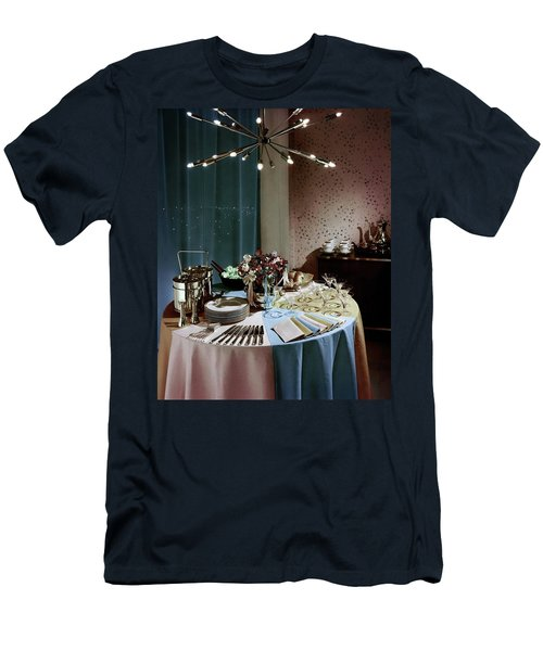 A Buffet Table At A Party Men's T-Shirt (Athletic Fit)