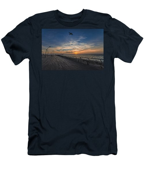 a kodak moment at the Tel Aviv port Men's T-Shirt (Athletic Fit)
