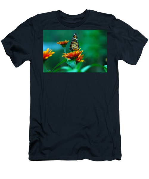 Men's T-Shirt (Slim Fit) featuring the photograph A Monarch by Raymond Salani III