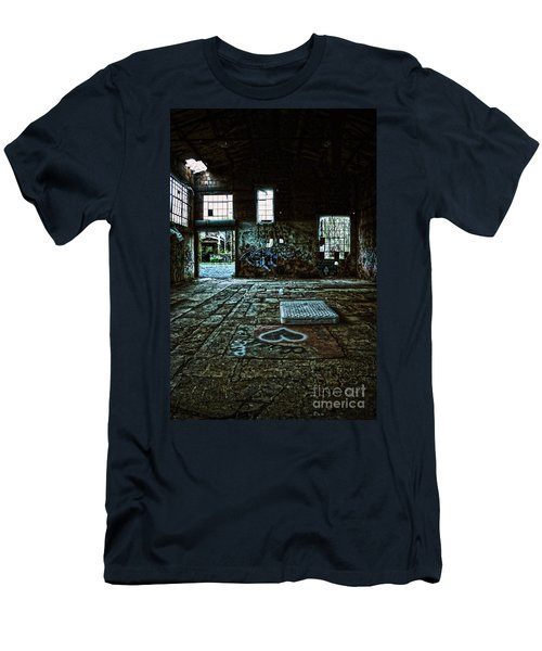 Men's T-Shirt (Slim Fit) featuring the photograph A Place With Heart by Debra Fedchin
