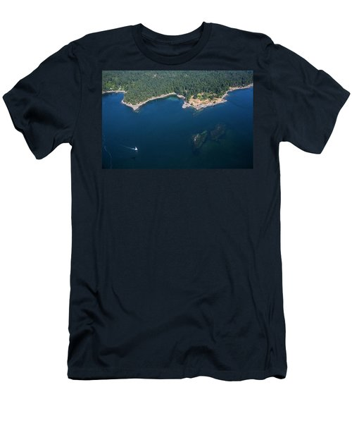 A Sailboat Off The Coast Of Vancouver Men's T-Shirt (Athletic Fit)