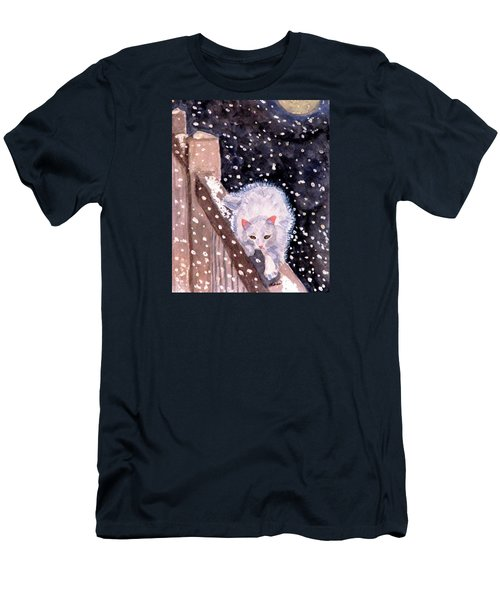 Men's T-Shirt (Slim Fit) featuring the painting A Silent Journey by Angela Davies