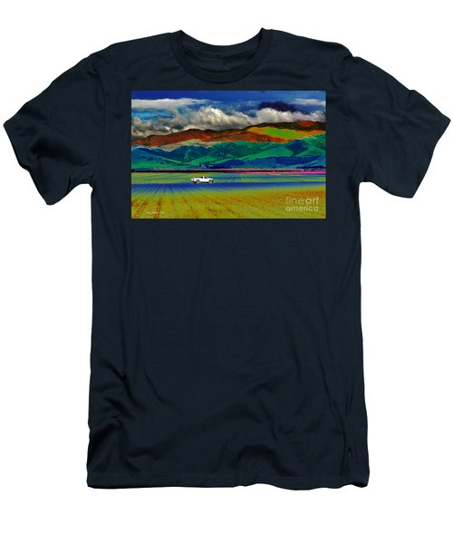 Men's T-Shirt (Slim Fit) featuring the photograph A Surreal Ride by Susan Wiedmann