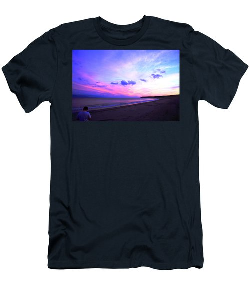 A Walk On The Beach Men's T-Shirt (Slim Fit) by Jason Lees
