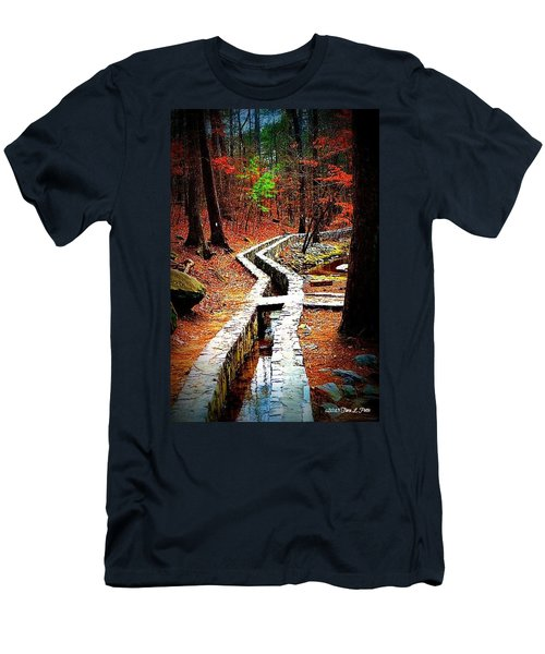 Men's T-Shirt (Slim Fit) featuring the photograph A Walk Through The Woods by Tara Potts